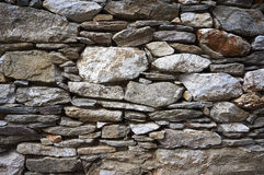 Contraction, old stone wall Stock Image