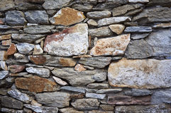 Contraction, old stone wall Royalty Free Stock Photos
