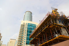 Contraction. Under Contraction Modern towers , Dubai, United Arab Emirates Stock Image