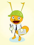 Contractor ant mascot Royalty Free Stock Image