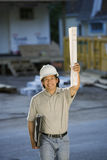 Contractor/architect on the job Royalty Free Stock Photography