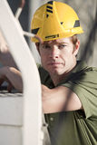 Contractor At Jobsite Royalty Free Stock Photography