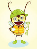 Contractor Bee Mascot. A character of contractor bee mascot. Can be used anything related to contractor, developer, properties, architect, builder, etc Royalty Free Stock Image
