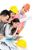 Contractor with business people Stock Photography
