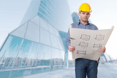 Contractor in the city Stock Photos