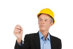 Contractor drawing project and making design. Stock Photography