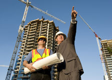Contractor and Foreman Stock Photo