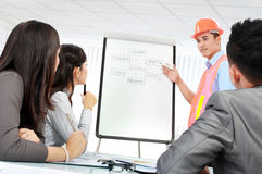 Contractor giving presentation Stock Images