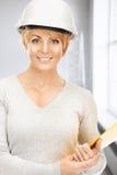 Contractor in helmet Stock Photos