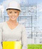 Contractor in helmet Stock Photo