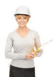 Contractor in helmet Stock Images