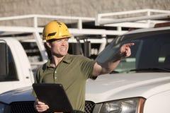 Contractor at jobsite Stock Photos