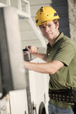 Contractor at jobsite Stock Image