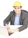Contractor in office Stock Photography