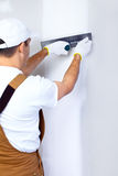 Contractor plasterer Stock Images