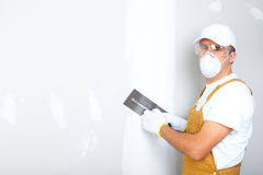 Contractor plasterer royalty free stock photography