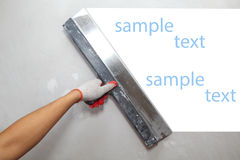 Contractor Plasterer.  Background Royalty Free Stock Photography