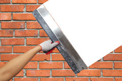 Contractor Plasterer.  Background Stock Photo