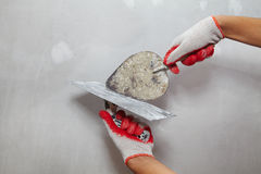 Contractor Plasterer Royalty Free Stock Images