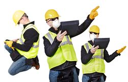 Contractor Poses Royalty Free Stock Photography