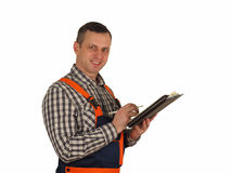 The contractor is ready to receive jobs Royalty Free Stock Photography