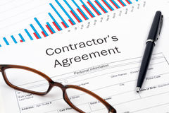 Contractor's Agreement and Graph Royalty Free Stock Image