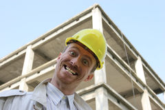 Contractor on site Royalty Free Stock Photos