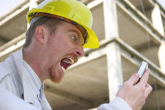 Contractor on site Royalty Free Stock Images