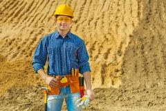 Contractor smiling Stock Images
