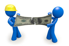 Contractor Stealing Money from Customer 3d Royalty Free Stock Image