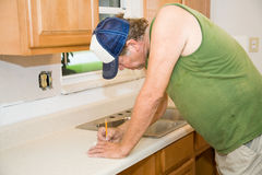 Contractor Taking Notes Stock Image