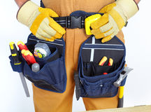 Contractor  with tools Stock Photography