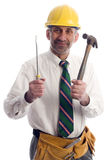 Contractor with tools Stock Image