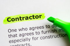 Contractor Royalty Free Stock Photos