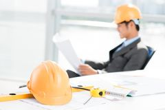 Contractor at work Stock Photography