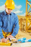 Contractor in work Royalty Free Stock Photography