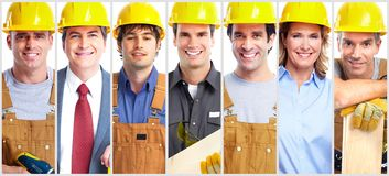 Contractor worker group royalty free stock images