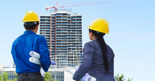 Contractors and building projects Stock Image