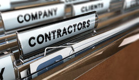 Contractors Database Stock Photos