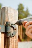 Contractors hands Stock Photo