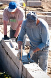 Contractors working Royalty Free Stock Photo