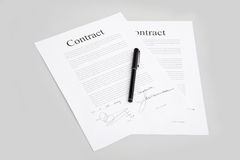 Contracts Royalty Free Stock Photos