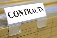 Contracts and documents Stock Photos