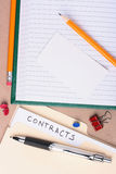 Contracts folder Stock Photos