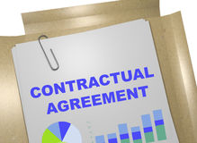 Contractual Agreement - business concept. 3D illustration of CONTRACTUAL AGREEMENT title on business document Royalty Free Stock Photography