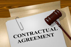 Contractual Agreement - legal concept Stock Image
