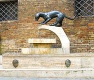 Contrada de Sienese de sculpture Images libres de droits
