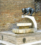 Contrada de Sienese de sculpture Image stock