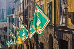 Contrada Oca - Siena imagens de stock royalty free