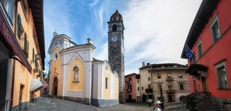 Contrada San Pedro del La en Ascona en el Lago Maggiore Fotos de archivo libres de regalías